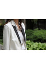 White-tuxedo-h-m-blazer-off-white-michael-kors-bag