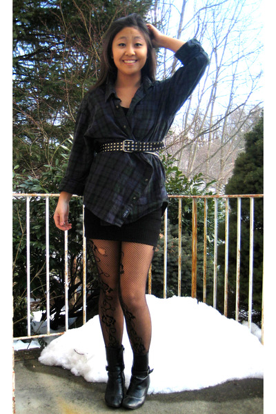 Flannel Dress with Belt