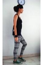 Topshop top - forever 21 vest - pants - Levis shoes - accessories