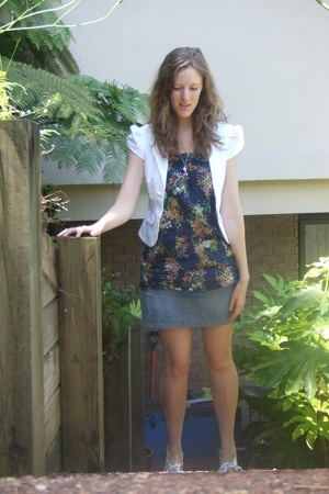 cotton on jacket - Country Road shirt - rip curl skirt - The warehouse shoes - K