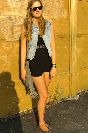 Monki dress - Monki vest - 2nd Hand belt - gotland accessories - Vero Moda acces