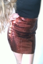 second hand skirt - Topshop top