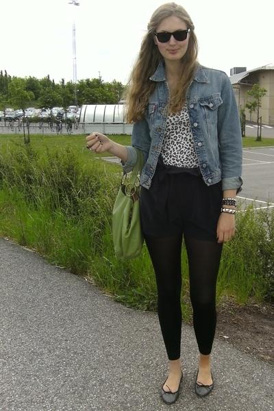 hm t-shirt - Crocker jacket - Gina shorts - Topshop accessories - Topshop shoes