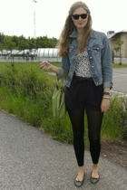 hm t-shirt - Crocker jacket - Gina shorts - Topshop accessories - Topshop shoes