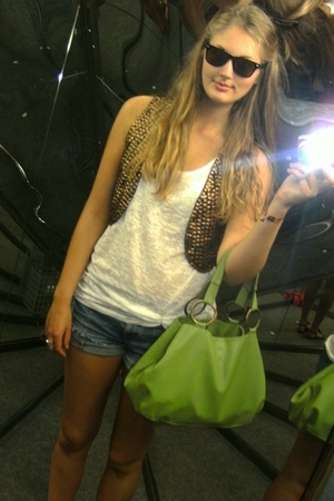 lindex glasses - BikBok top - old shorts - Topshop accessories - Topshop accesso