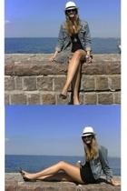 Gina hat - svenskt tenn necklace - Crocker jacket - Indiska - Topshop shorts