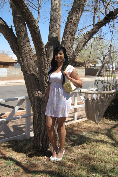 pink Wet Seal dress - white Delicious shoes - yellow XOXO purse