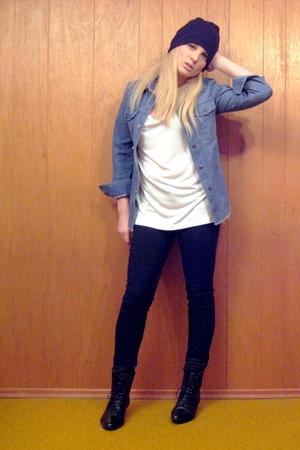 vintage hat - vintage jacket - BDG jeans - American Apparel t-shirt - H&M socks