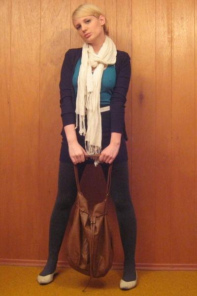 joe fresh style sweater - vintage shoes - H&M scarf - H&M purse