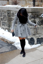 black houndstooth BB Dakota coat - black ballet flats H&M shoes