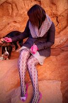 gray Gap scarf - gray Billabong coat - gray Target skirt - black Forever 21 tigh