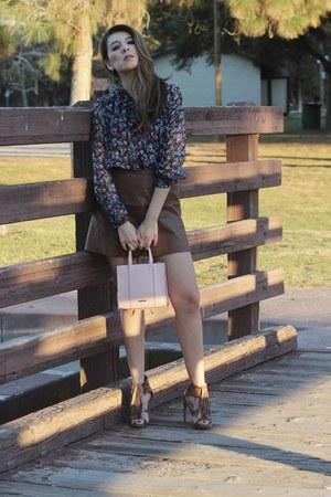 Rebecca Minkoff bag - bcbg max azria skirt - vintage blouse
