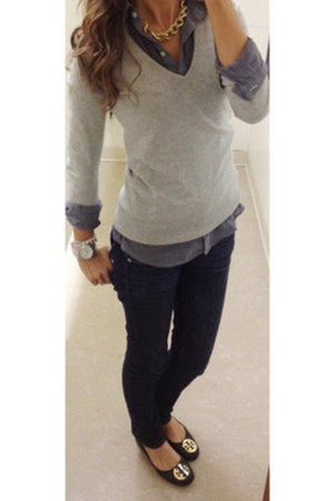 Gap jeans - Zara sweater