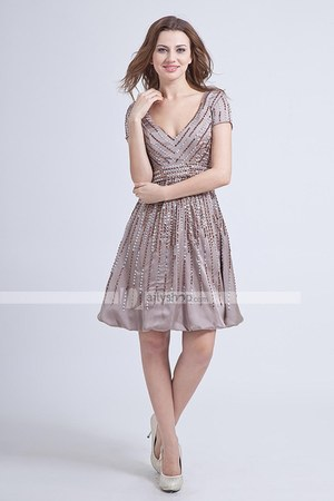 elastic satin dress