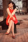 Lulus-dress-joe-fresh-blouse-loafer-h-m-heels