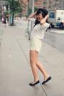 White-h-m-blouse-black-urban-outfitters-hat-black-oasap-bag
