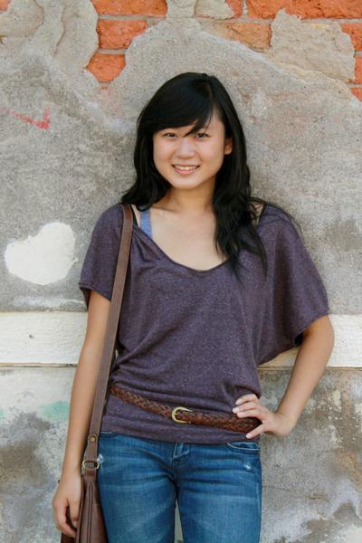 Delias shirt - American Apparel top - Liz Clairborne purse - Delias jeans - ital