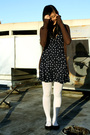 Blue-target-dress-brown-delias-cardigan-white-wet-seal-tights-black-payles
