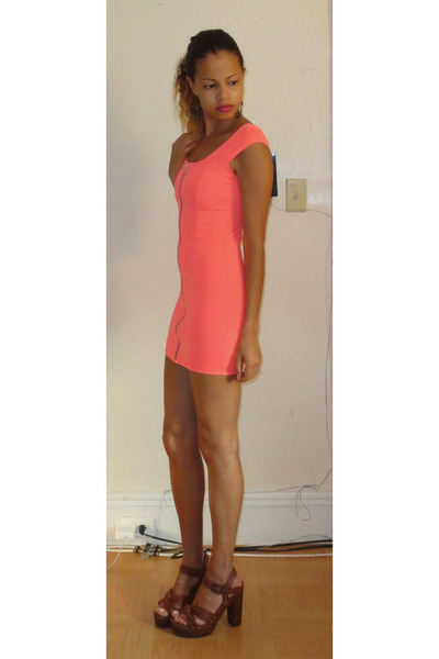 Neon H&m Dress Leather H&m