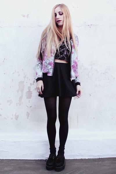 floral chiffon Vesst jacket - Vesst bracelet - made by me top