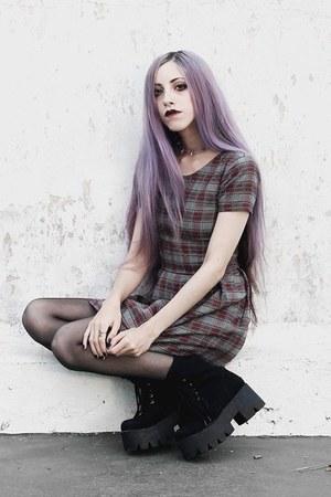 periwinkle plaid dress