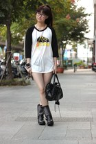 Nasty Gal boots - shirt