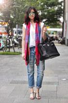 off white Katy-Kate blouse - silver Katy-Kate heels