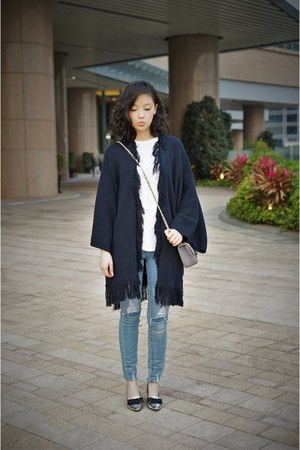 navy jeanasis cape - silver Ete flats