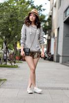 gold H&M shorts