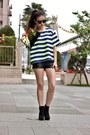 Black-h-m-shorts-blue-taipei-top
