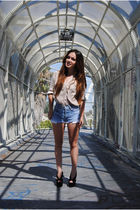 Forever21 blouse - Levis shorts - Jeffrey Campbell shoes - Forever21 accessories