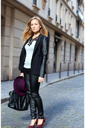 H&M hat - Zara blazer - Aldo bag - ASH heels