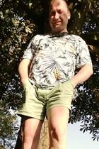 leaf print next t-shirt - asos shorts - American Apparel socks
