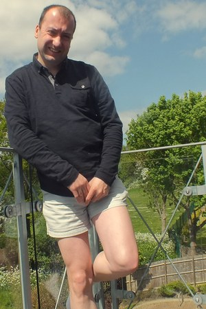 black polo next shirt - silver cotton American Apparel shorts