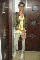 jacket - paporma shirt - paporma necklace - from my dad store pants - WADE shoes