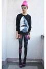 Black-punk-x-pretty-sweatshirt-bubble-gum-rebel-gear-accessories