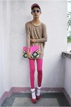 mpe leggings - Bubbles bag - F&H sunglasses - asianvogue shop wedges