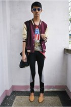 Topman jacket - Spring leggings - Gold Dot flats