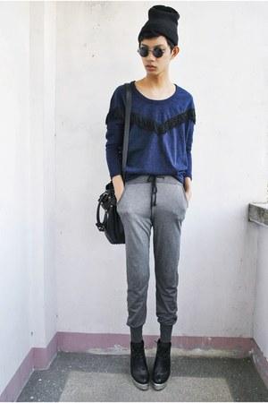 black itsdesigner lab bag - heather gray Forever 21 pants