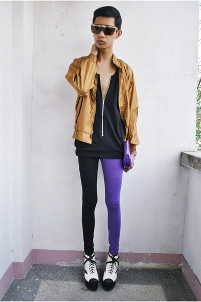 luck jacket - journeys sunglasses - Gold Dot wedges