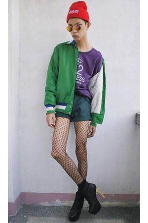 green vintage jacket