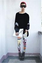 a leggings - Gold Dot bag - Soule Phenomenon wedges