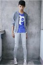 Periwinkle-converse-shoes-heather-gray-hot-topic-jeans-violet-h-m-t-shirt