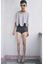 heather gray asianvogue shop wedges