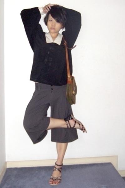 vintage blouse - pants - Bonia accessories - Vincci shoes