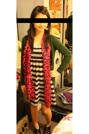 Sportsgirl scarf - Gaudi dress - Zara jacket - diva earrings - Sportsgirl shoes