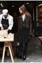 skirt - jacket - shoes