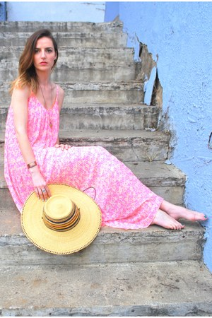 hot pink chiffon Old Navy dress