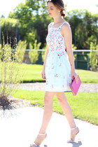 light blue sequined French Connection dress