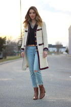 brown ankle boots JCrew boots - light blue boyfriend J Brand jeans